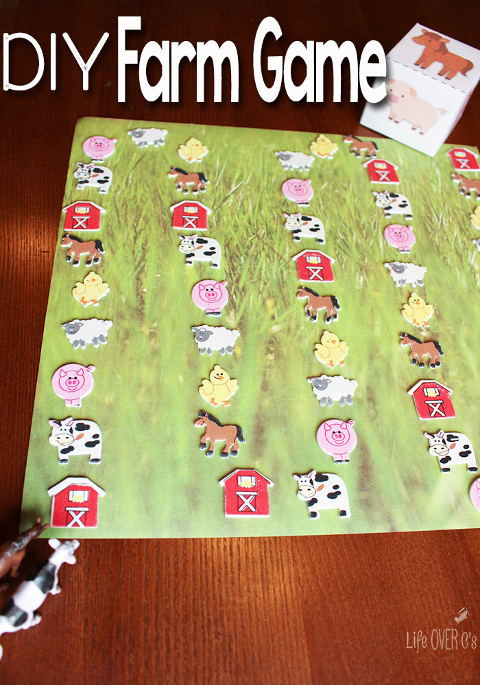 DIY FARM ANIMAL GAME WITH FREE PRINTABLE