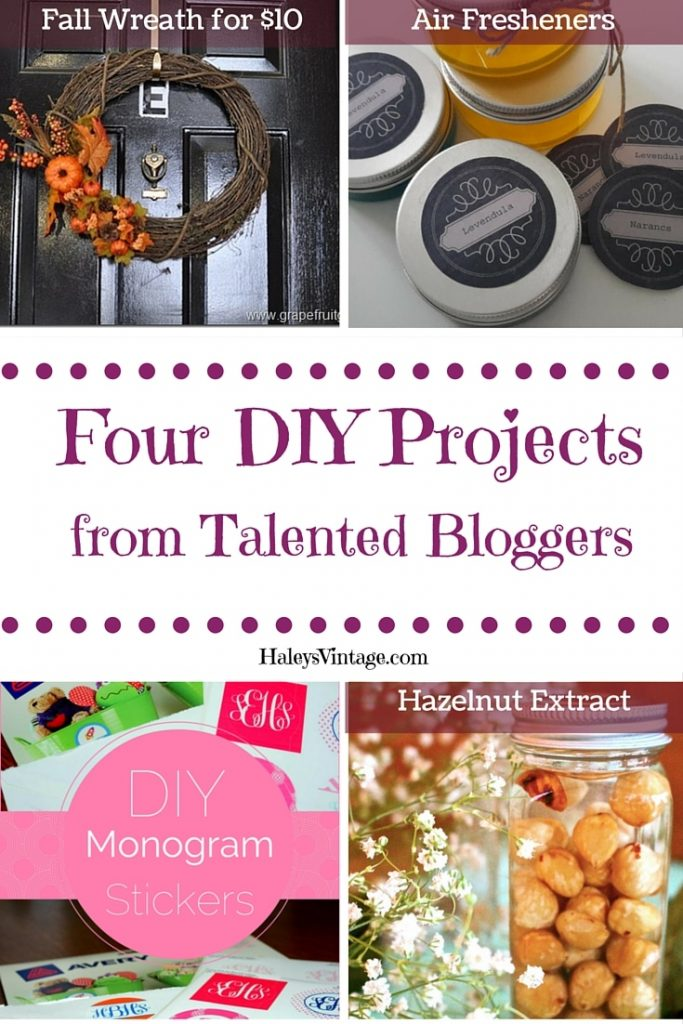 My Favorite DIY Projects ~ Part 13! Fall Wreath, Air Fresheners, Monogram Labels, and Hazelnut Extract!