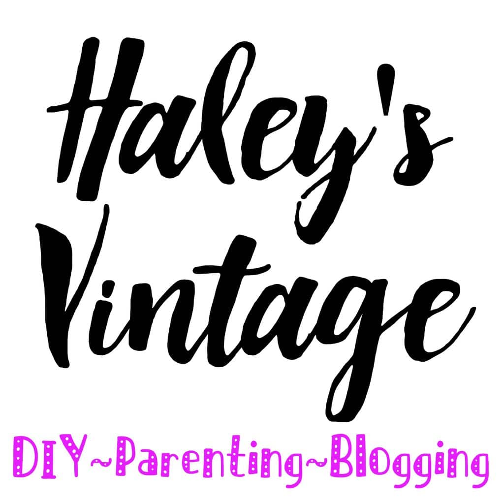 Haley's Vintage: DIY ~ Parenting ~ Blogging