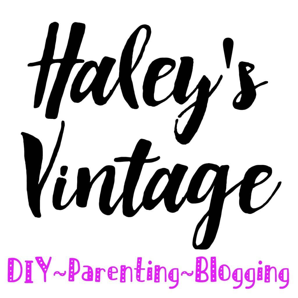 Haley's Vintage: DIY ~ Parenting ~ Blogging
