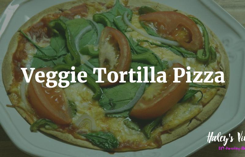 Veggie Tortilla Pizza