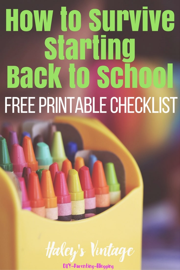 Have you every wondered when you should do something to make back to school stress-free? Here are my tricks to help you survive starting back to school!