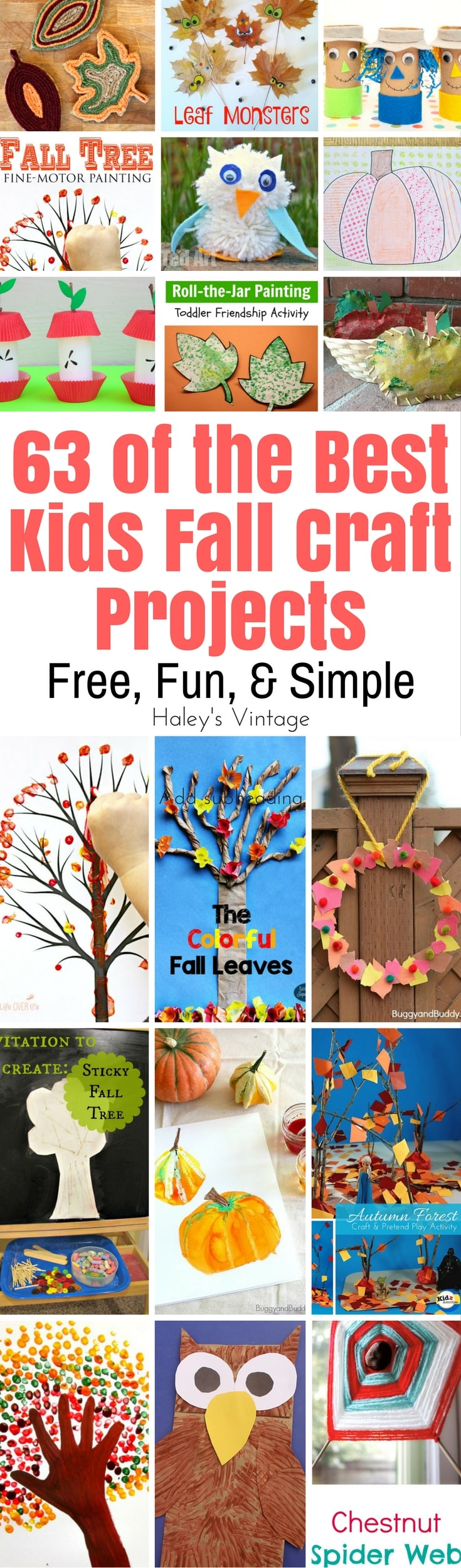 You can help them to enjoy Fall with Kids Fall Craft Projects. With 63 free craft projects, you'll be able to find projects all of the kids will love!