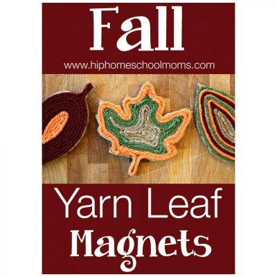 Fall Yarn Leaf Magnets