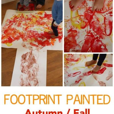 Footprint Painted Autumn – Fall Tree