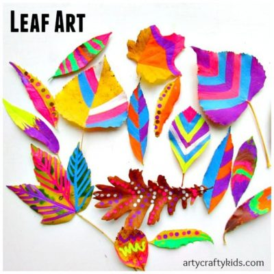 Leaf Chalk Art