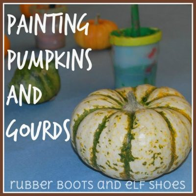 Painting Pumpkins ans Gourds