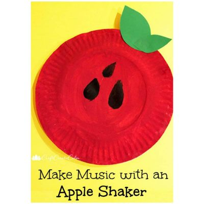 Paper Plate Apple Shaker Craft for Kids