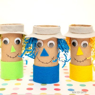 Paper Roll Scarecrow Craft