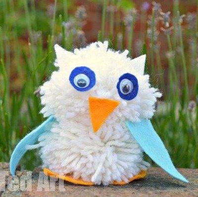 Pom Pom Owl Craft by Red Ted Art