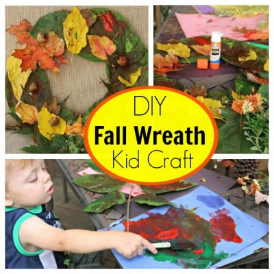 Colorful DIY Fall Wreath for Kids