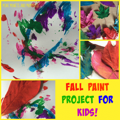 Fall Leaf Abstract Art for Kids