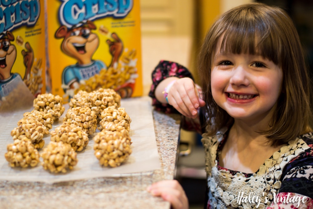 My Dairy-Free Cereal Treat Balls for Kids are so easy to make! Plus the kids can practice stirring food and even forming the treat balls.