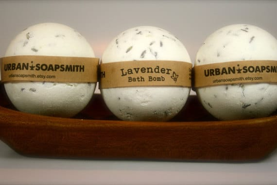 Unique Gifts for Tired Mom to Show You Care - Lavender bath bombs are a great way to relax after a long and tiresome day with the kids.