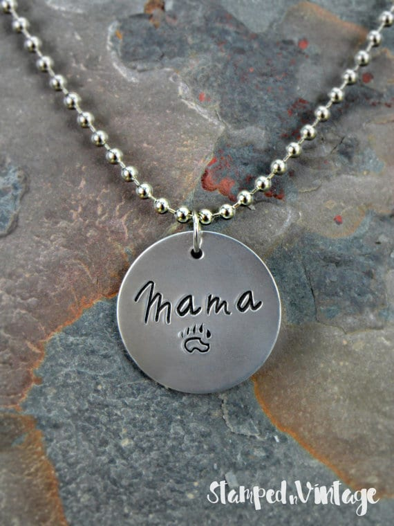 Unique Gifts for Tired Mom to Show You Care - Mama Bear Necklace will show how much you care for her!