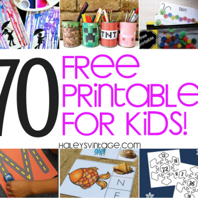 My Top 70 Free Printables for Kids – You Need to See!