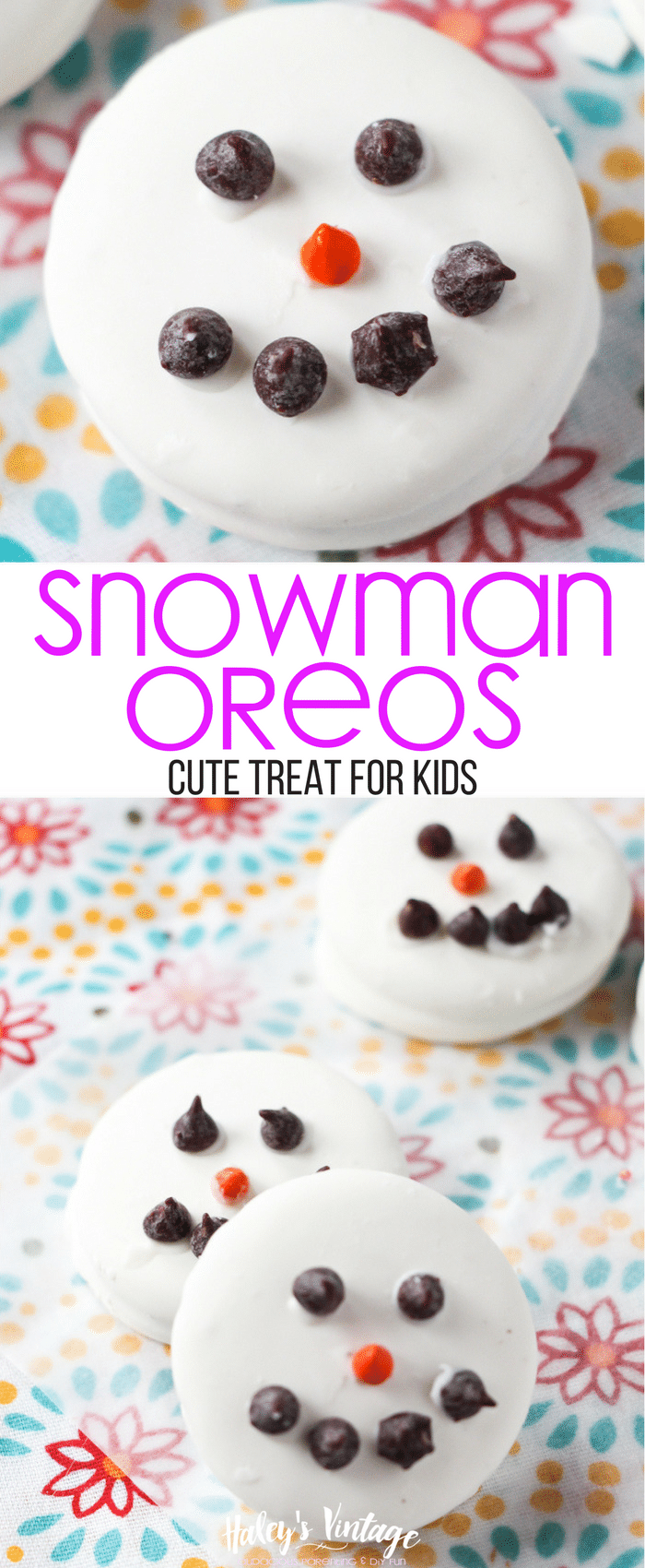 Making Snowman OREOs is a great way to get kids in the kitchen. And don't worry, Snowman OREOs are super quick to make and fun to share!