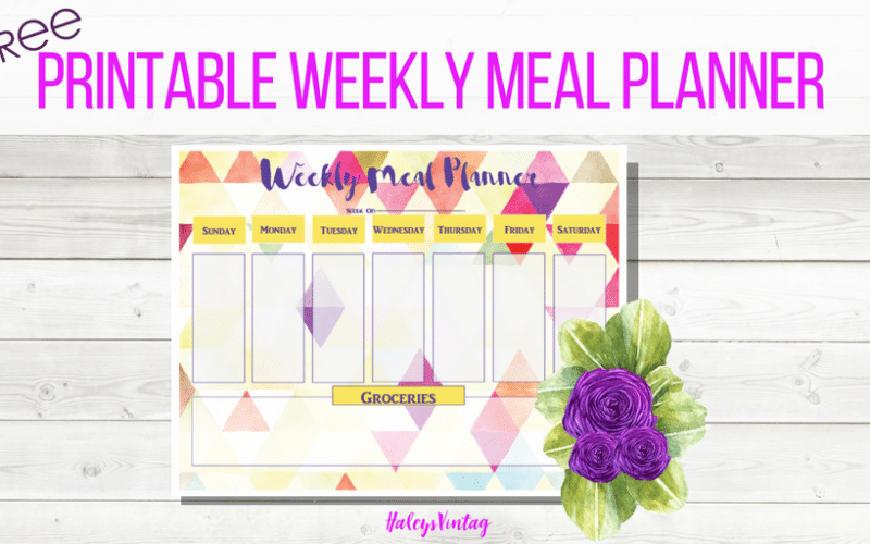FREE Printable Weekly Meal Planner That Will Make Dinner Easy