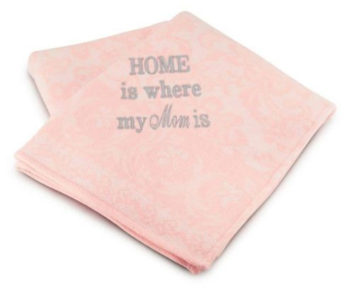 Pink Floral Mom Throw would be a great personalized gift for mom!