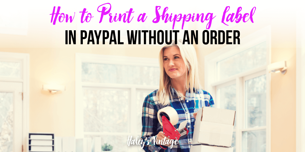 how to buy a shipping label on paypal
