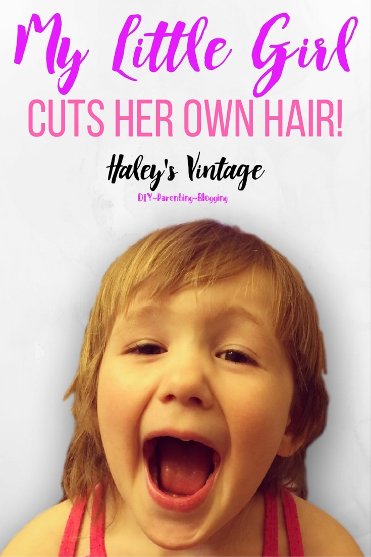 My little girl cuts her own hair! Open now to read a story about a sweet and mischievous little girl who is ready to grow up, but I'm just not ready for it.
