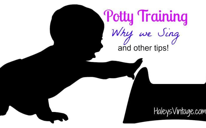 Do you have distracted potty trainee? Read about how singing helped potty training. #Pottytraining #toddlers #singing