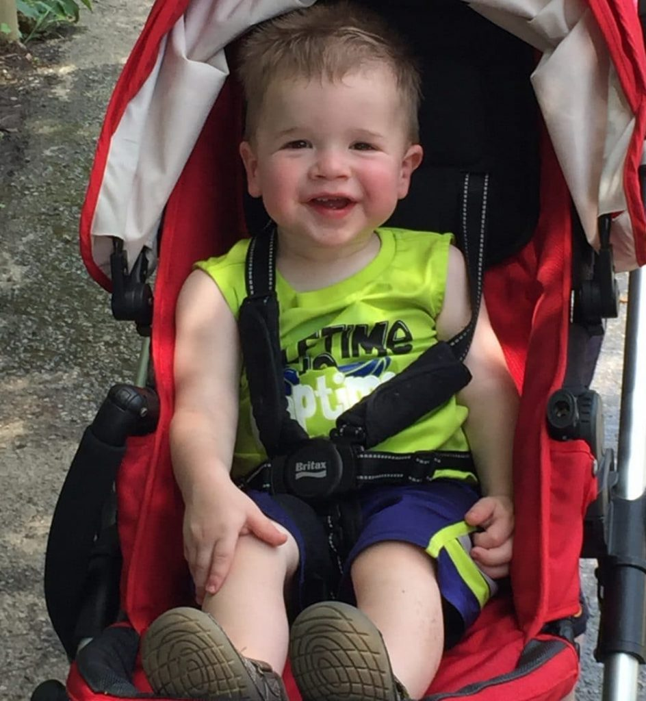 Luke catching a ride at Louisville Zoo