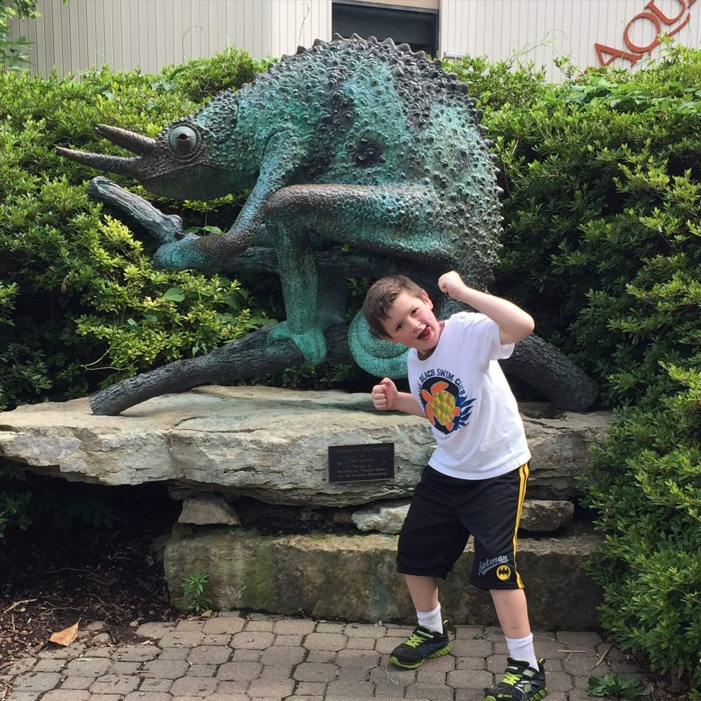 Noah being silly at Louisville Zoo