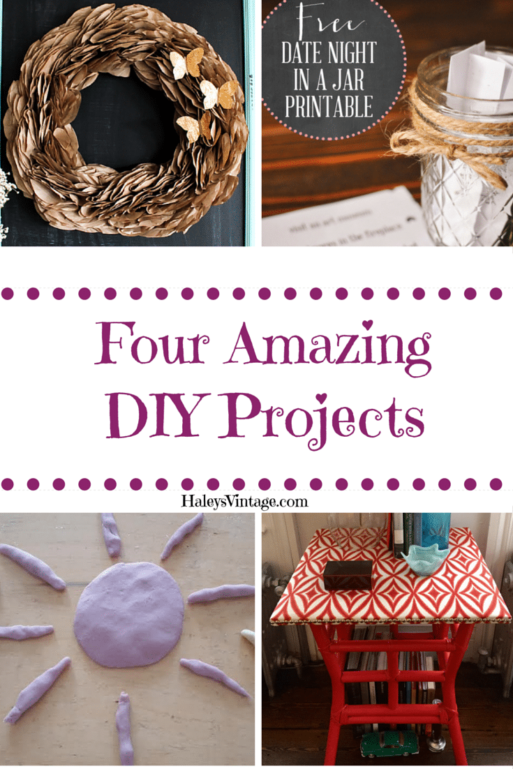 You will love these four amazing DIY projects from these awesome and crafty bloggers.