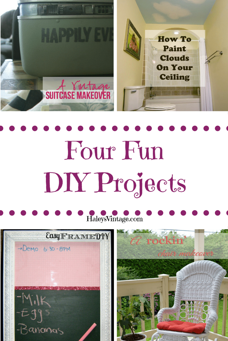 You will love these four DIY Projects for your home.