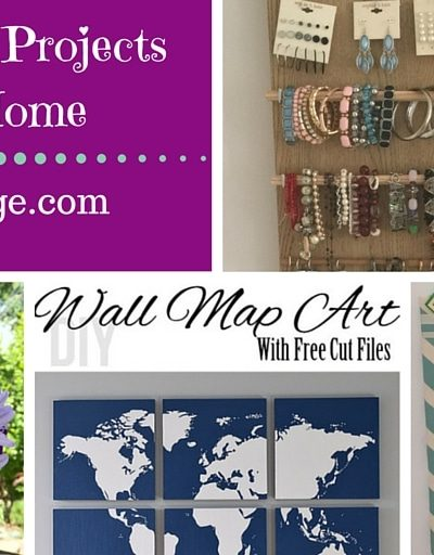 My Favorite DIY Projects ~ Part 6! Message Boards, World Map Art, Jewelry Holder, & Flower Arranging Tips