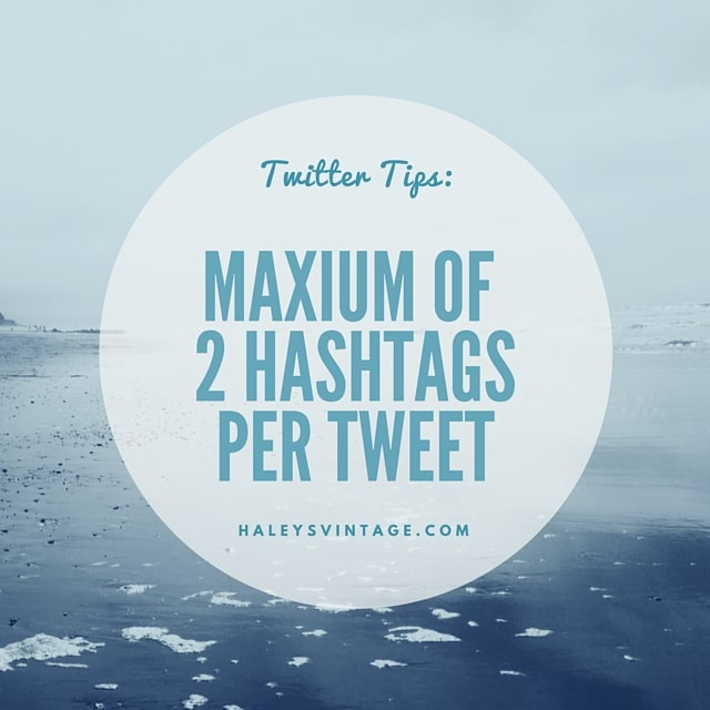 Never use more than 2 hashtags per tweet! I looks like spam and you will loose followers.
