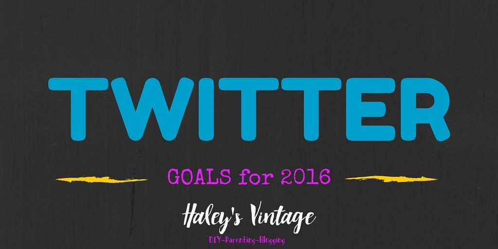 Get your blog goals figured out early. See my Twitter goals!