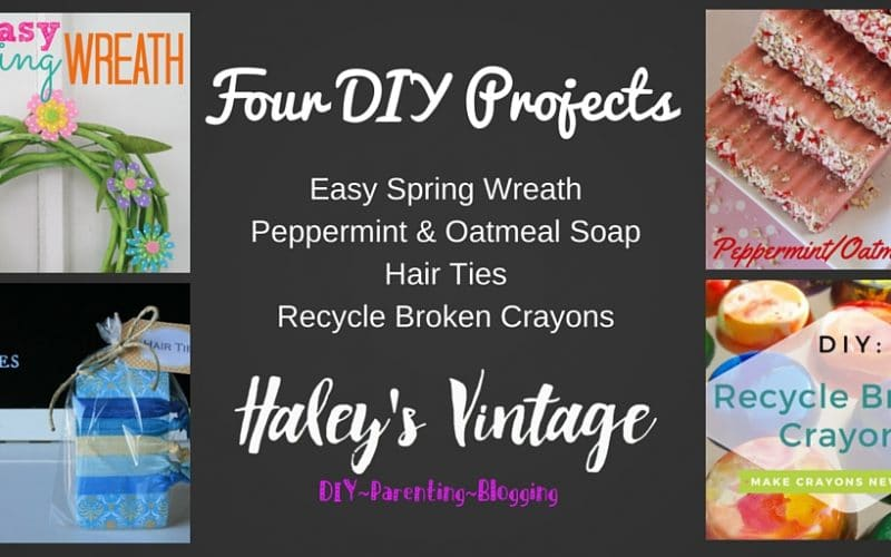 My Favorite DIY Projects ~ Part 19! Peppermint Soap, Spring Wreath, Broken Crayons, and Hair Ties