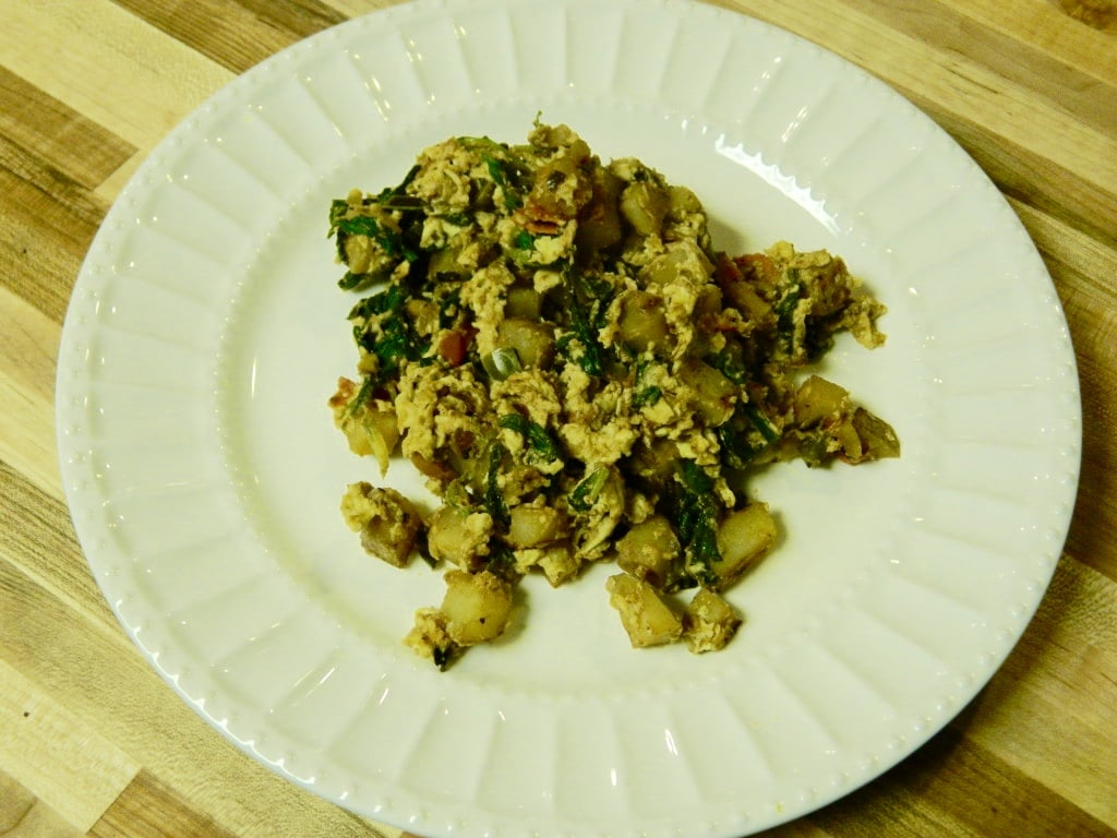 Veggie Scramble is a sneaky way to get some extra veggie in your breakfast! However, this recipe works great as a lunch or dinner too! Experiment and enjoy your veggie scramble!