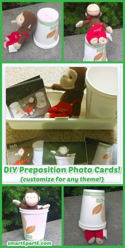 Easy DIY Preposition Position Photo Cards