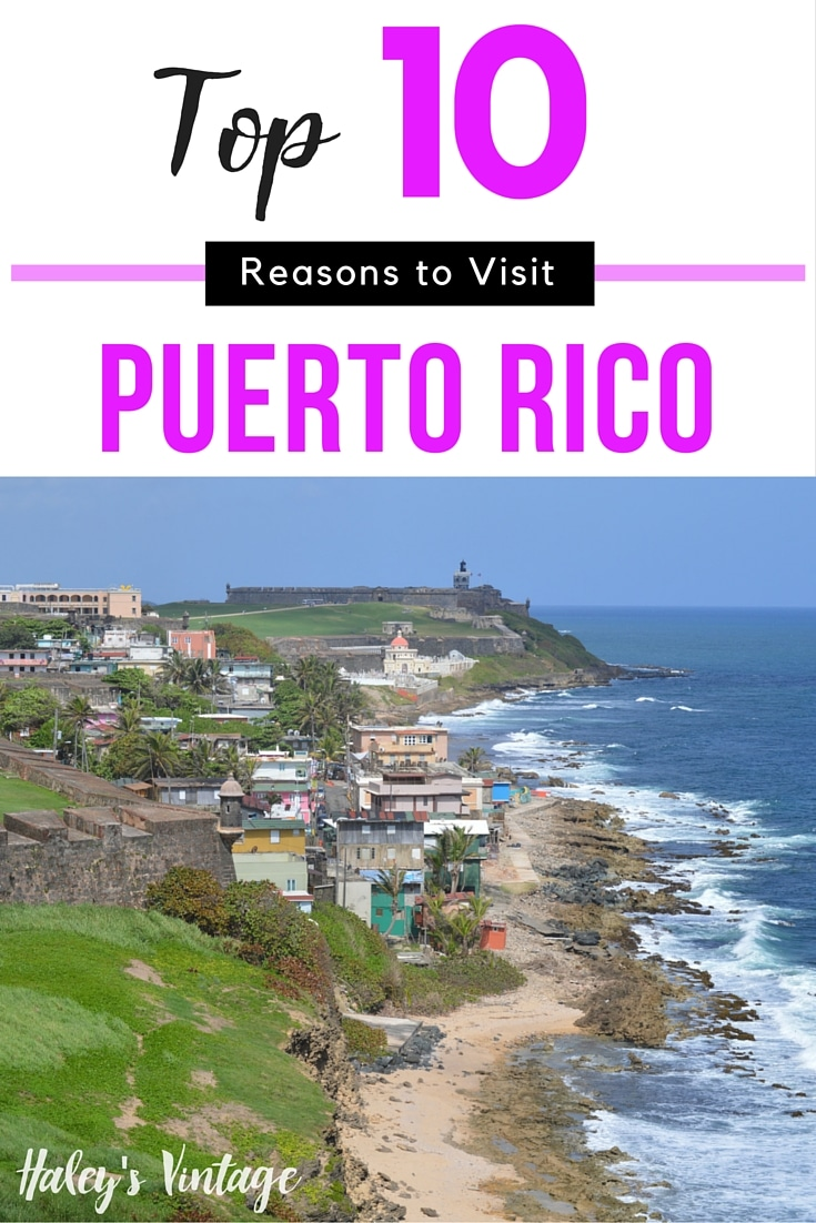Need a quick vacation? Don't have a passport? Checkout my top 10 reasons to visit Puerto Rico & you will be ready to make this your favorite vacation spot! #PuertoRico #vacation #beach