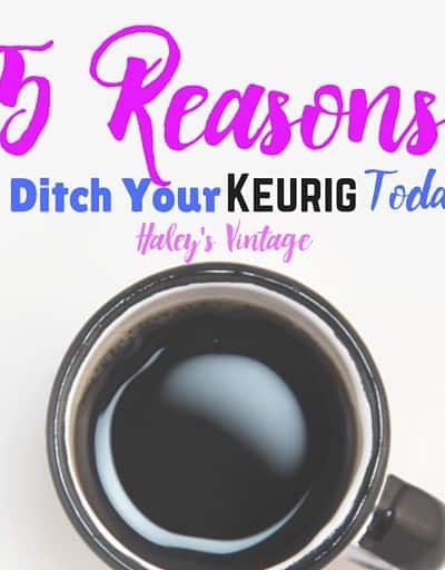 Do you love coffee? See why I switched from a Keurig coffee makers. Here are five reasons why I ditched my Keurig machine, and after reading this you might be thinking to ditch your Keurig too! Plus a why I'm loving my Ninja Coffee Bar!