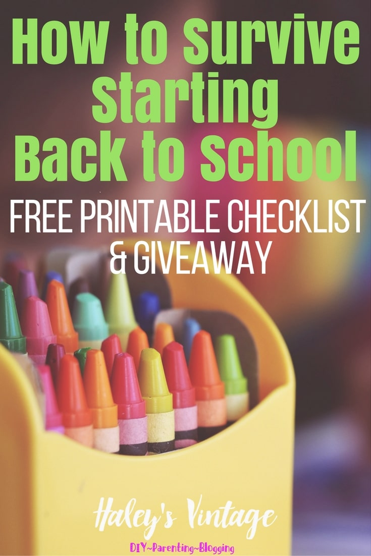 How to survive starting back to school! Have you ever wondered when you should do something to make back to school stress-free? Here are my simple tricks to help you survive starting back to school!