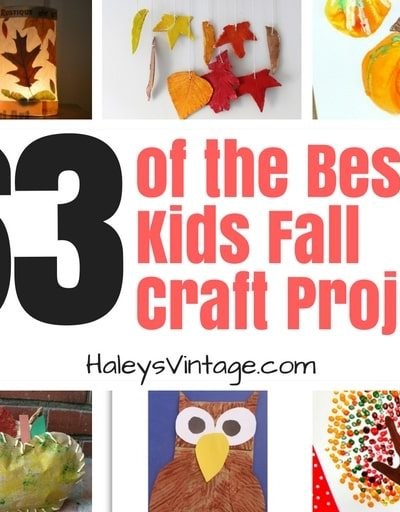 63 of the Best Kids Fall Craft Projects- Free, Fun, and Simple