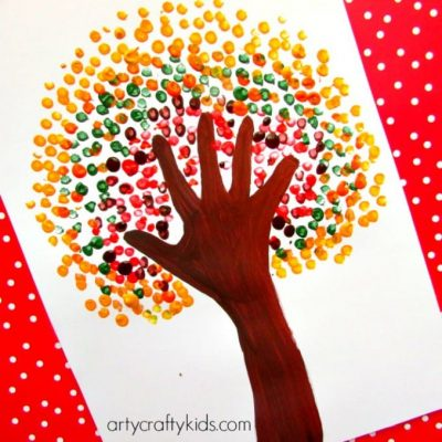 Autumn Handprint Tree