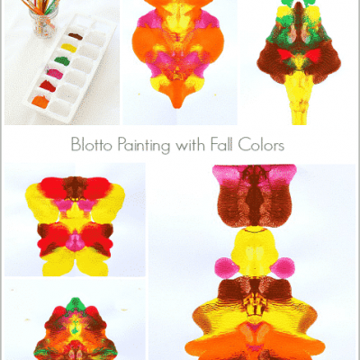 Blotto Painting for Kids in Fall Colors