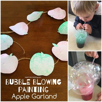 Bubble Blowing Painting Apple Garland