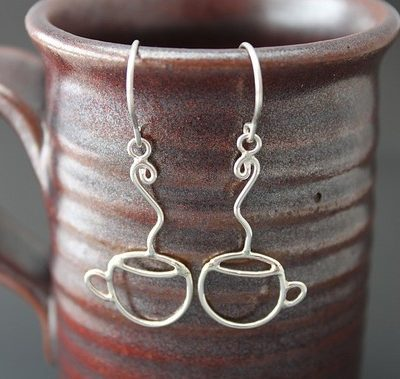 Coffee Anyone? Sterling Silver Coffee Cup Earrings