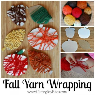 Fine Motor Fall Yarn Wrapping