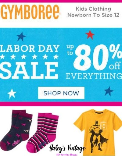 Gymboree's Labor Day Sale and EVERYTHING is on sale even new arrivals!!! Now is an excellent time to stock up on clothes for fall and winter.