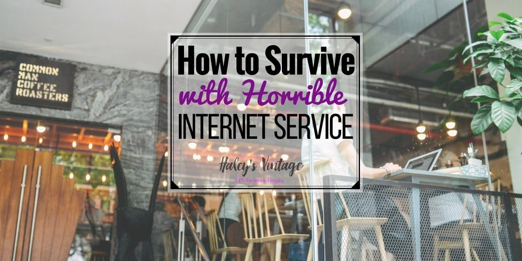 Horrible Internet Service: As a blogger or small business owner, the internet is our most valuable tool. But what can you do if you have sucky internet? Let me tell you I am getting to a 'pro' at managing horrible internet service! I am going to share with you how I manage to survive all while still blogging and running my eBay and Etsy shops.