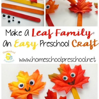 Make a Leaf Family by Homeschool Preschool