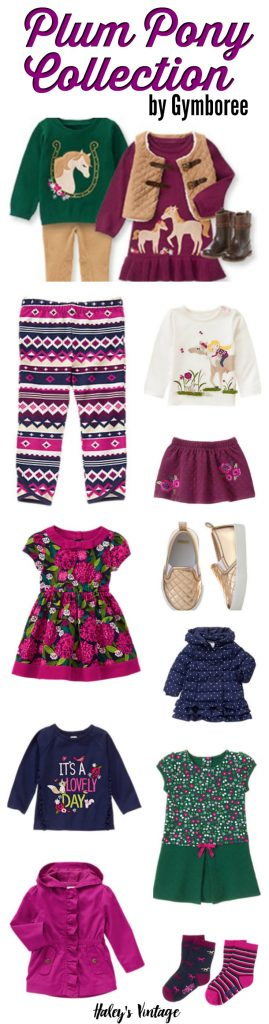 Adorable Plum Pony Collection by Gymboree made for Girls --- Gymboree's Labor Day Sale and EVERYTHING is on sale even new arrivals!!! Now is an excellent time to stock up on clothes for fall and winter.