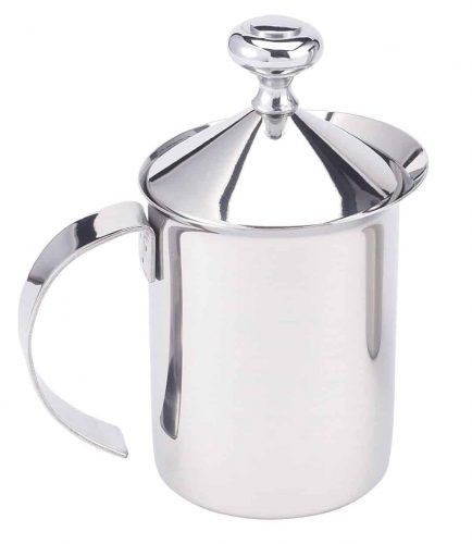 Stainless steel milk frother is great for homemade lattes!